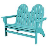 POLYWOOD® Aruba Vineyard Adirondack Bench in Natural