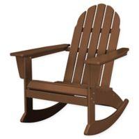 POLYWOOD® Vineyard Outdoor Adirondack Rocking Chair in Teak