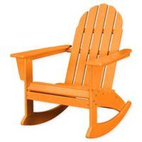 POLYWOOD® Vineyard Outdoor Adirondack Rocking Chair in Tangerine