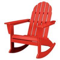 POLYWOOD® Vineyard Outdoor Adirondack Rocking Chair in Sunset Red