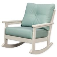POLYWOOD® Vineyard Deep Seated Rocking Chair with Sunbrella® Cushion in Sand/Spa
