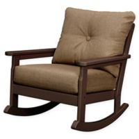 POLYWOOD® Vineyard Deep Seated Rocking Chair with Sunbrella® Cushion in Mahogany