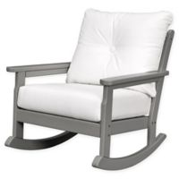 POLYWOOD® Vineyard Deep Seated Rocking Chair with Sunbrella® Cushion in Slate/Natural