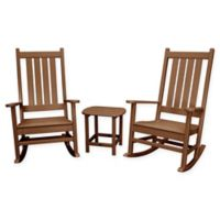 POLYWOOD® Vineyard 3-Piece Rocking Set in Teak