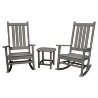 POLYWOOD® Vineyard 3-Piece Rocking Set in Slate Grey