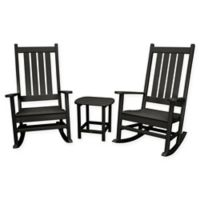 POLYWOOD® Vineyard 3-Piece Rocking Set in Black