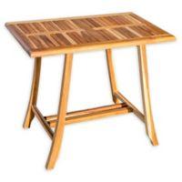 EcoDecors® EarthyTeak™ Solid Teak Dining Table