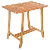 EcoDecors® EarthyTeak™ Solid Teak Bistro Table