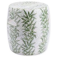 Zuo® Modern Tacuari Garden Seat in White/Green
