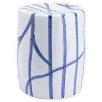 Zuo® Modern Raiz Garden Seat in White/Blue