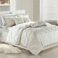 Chic Home Kearney 12-Piece King Comforter Set in Beige