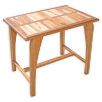 EcoDecors® Tranquility 35-Inch Teak Patio Dining Table in Natural