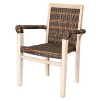 Viro Indoor/Outdoor Stackable Chair in Rustic White