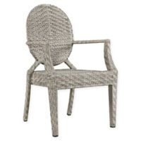 Modway Casper Outdoor Patio Arm Chair in Light Grey