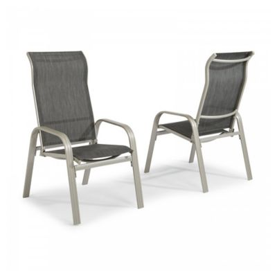 Home Styles South Beach Sling Dining Chairs In Grey Set Of 2