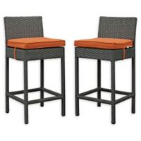 Modway Sojourn Outdoor Bar Stools in Tuscan Sunbrella® Canvas (Set of 2)