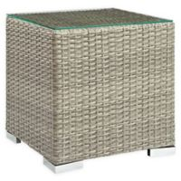 Modway Repost Outdoor Side Table in Light Grey