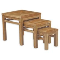 Modway Marina Outdoor Patio Nesting Table in Natural
