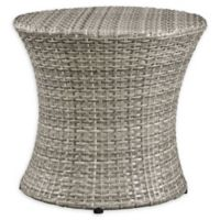 Modway Stage Outdoor Round Side Table in Light Grey
