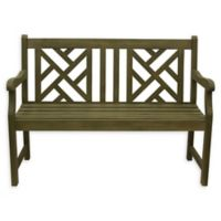 Décor Therapy Atlantic All-Weather Acacia Wood Bench in Brushed Fern