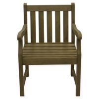 Décor Therapy Henley All-Weather Acacia Wood Outdoor Armchair in Brushed Fern