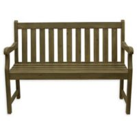 Decor Therapy Henley 2-Seat Outdoor Bench in Brushed Fern
