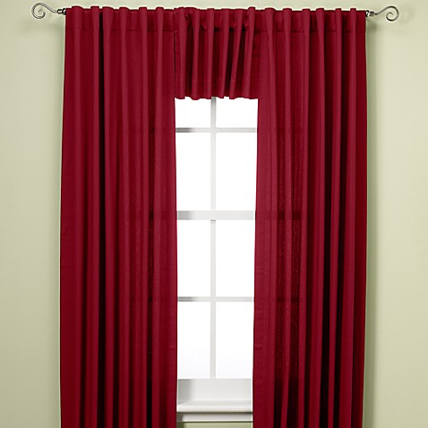 Henley 95-Inch Room Darkening Thermal Lined Rod Pocket/Back Tab Window Curtain Panel in Red