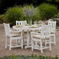 POLYWOOD® Traditional Garden 5-Piece Dining Set in White