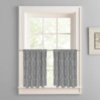 Colordrift Mandy 24-Inch Rod Pocket Window Curtain Tier Pair in Charcoal