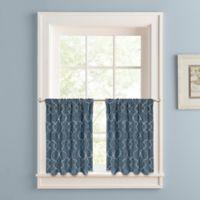 Colordrift Mandy 24-Inch Rod Pocket Window Curtain Tier Pair in Indigo