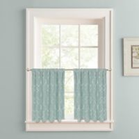 Colordrift Mandy 24-Inch Rod Pocket Window Curtain Tier Pair in Spa