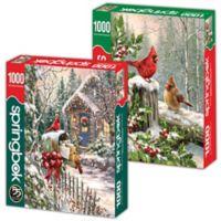 Winter Birds 2-Pack 1,000-Piece Jigsaw Puzzles