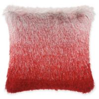 Mina Victory By Nourison Celadon Illusion Shag Throw Pillow in Red/Silver