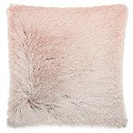 Mina Victory By Nourison Celadon Illusion Shag Throw Pillow in Rose