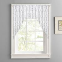 Colordrift Mandy Rod Pocket Kitchen Window Swag Pair in White