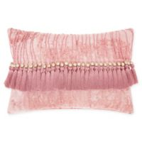Mina Victory By Nourison Velvet Tassel Oblong Throw Pillow in Rose