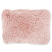 Mina Victory By Nourison Celadon Shimmer Oblong Throw Pillow in Rose