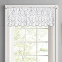 Colordrift Mandy Rod Pocket Window Valance in White