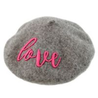 Rising Star™ Newborn Love Beret Hat in Grey