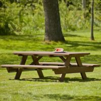 Polywood® Park Picnic Table in Teak