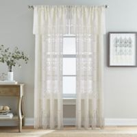 Bohemian Lace 84-Inch Rod Pocket Sheer Window Curtain Panel in Ivory