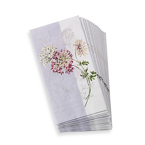 Mikasa silk flowers disposable guest towels set of 16 - Disposable guest towels for bathroom ...