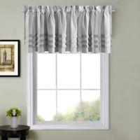 Juliette Kitchen Window Curtain Valance In Grey