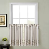 Juliette 45-Inch Kitchen Window Curtain Tier Pair in Natural