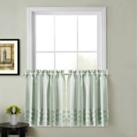Juliette 45-Inch Kitchen Window Curtain Tier Pair in Sage