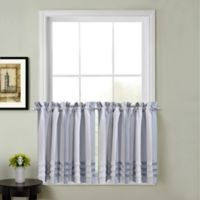 Juliette 45-Inch Kitchen Window Curtain Tier Pair in Blue