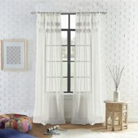 Peri Home Liv 63-Inch Rod-Pocket Window Curtain Panel in Ivory