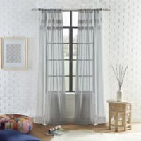 Peri Home Liv 95-Inch Rod-Pocket Window Curtain Panel in Grey