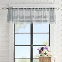 Peri Home Liv Tailored Rod-Pocket Window Valance in Grey