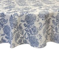 Bardwil Linens Calendre 70-Inch Round Tablecloth in Indigo